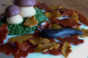 Dort pro houbaře detail slimáka