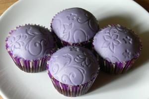 Fialové muffiny