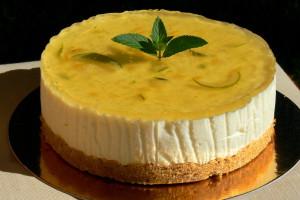 Nepečený citronový cheesecake malý