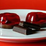 Čokoládové dortíky s malinovým želé