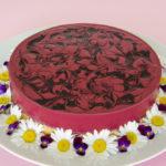 borůvkový mousse cake