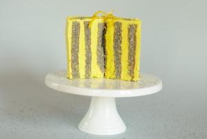 citronovo makový dort