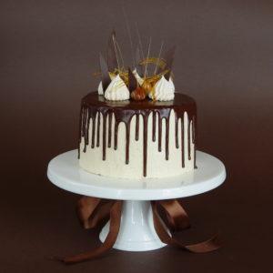 Čokoládový dort s karamelovým krémem