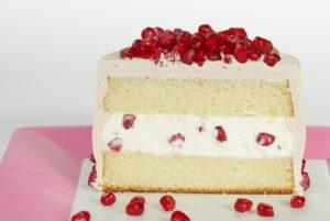 Vanilkový dortík s granátovým jablkem