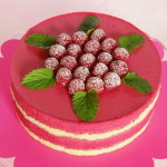 dort s malinovou pěnou