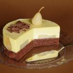 dort s karamelovou pěnou a hruškami