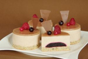 dortíky s kaštanovou pěnou