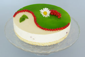 limetkový mousse cake