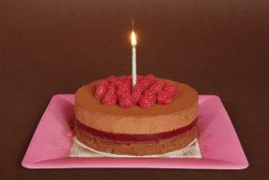 malinovo-čokoládový mousse cake