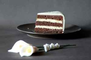 marcipánový dort řez