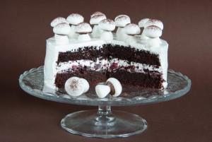 čokoládový meringue dort