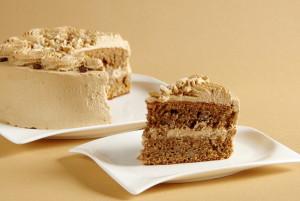 ořechovo-kávový dort