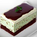 peprmintový dort