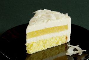 Piña Colada mousse cake