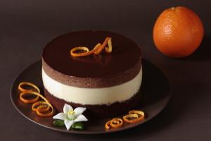 čokoládový dort s pomerančovou pěnou