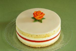 pomerančový dort s marcipánem
