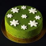 zelený dort s pistáciovou pěnou